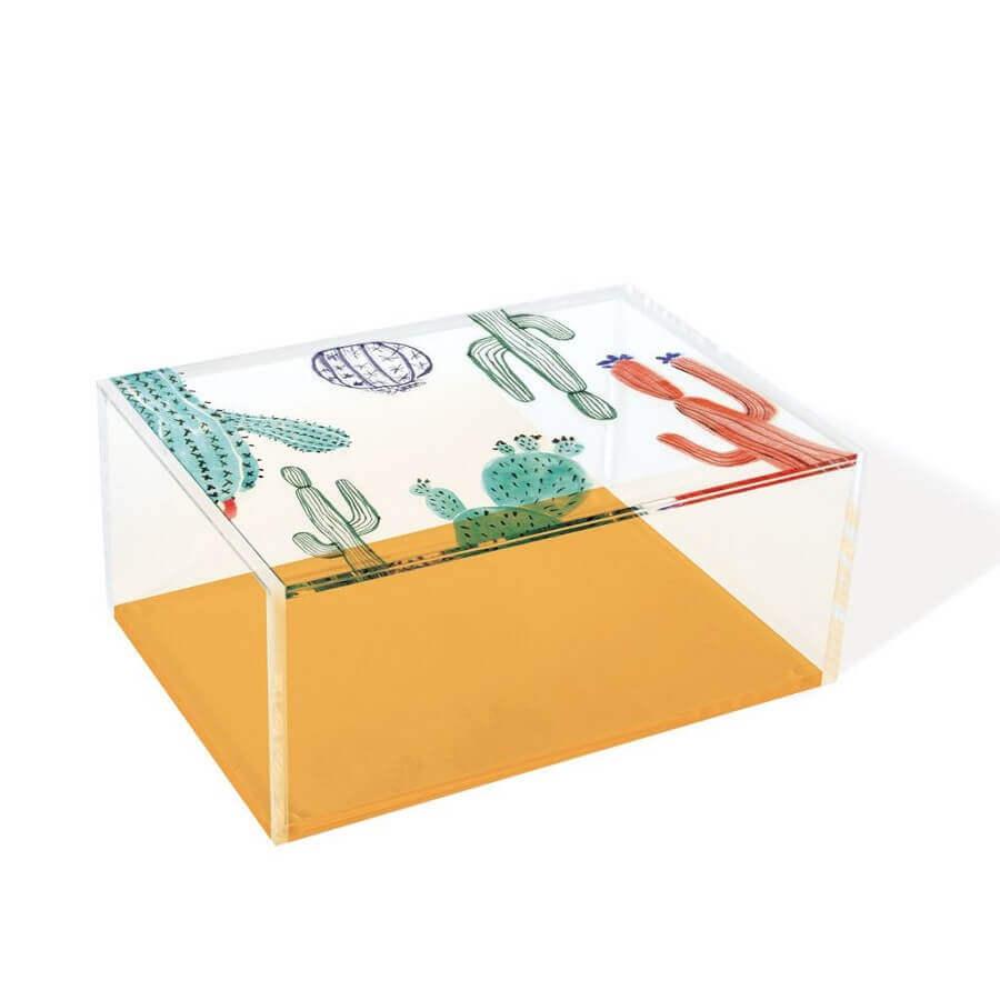 caixinha de acrílico decorada com tinta Foto Pinterest