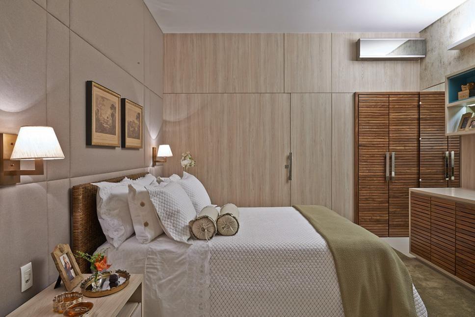 cama box - quarto de casal com cama box e cabeceira em fibra