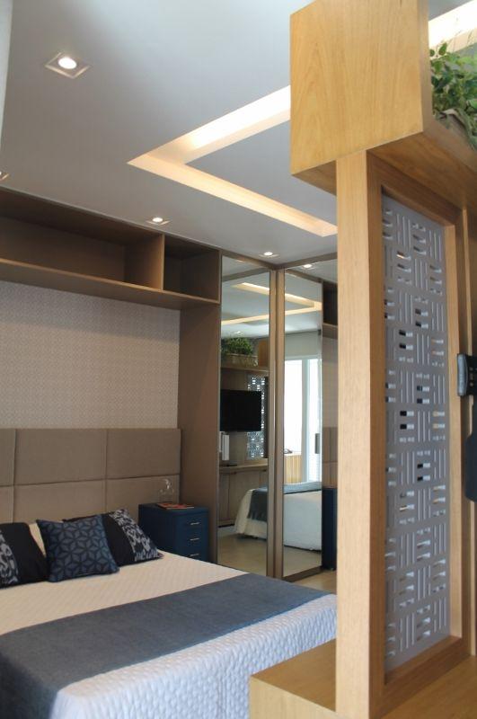 cama box - quarto integrado com sala de estar