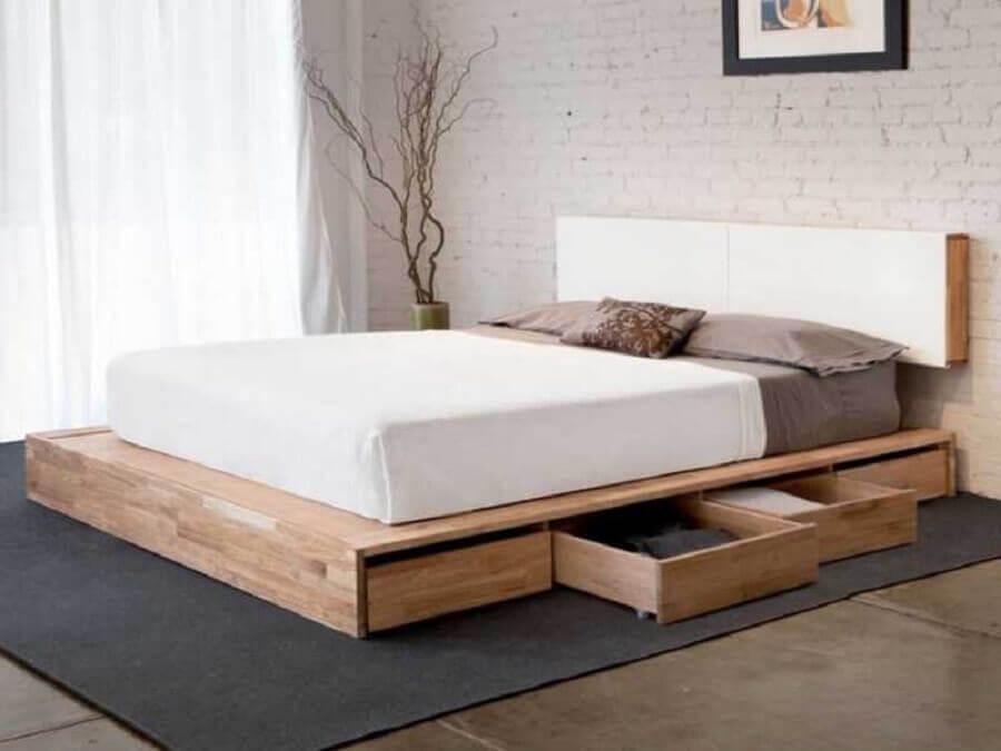 cama com gaveteiro embaixo