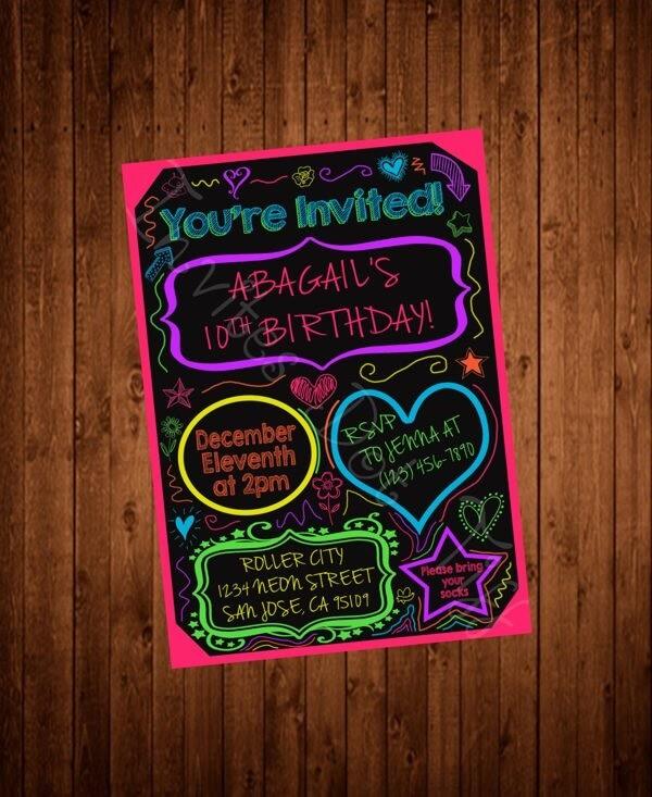 Convite criativo para festa neo