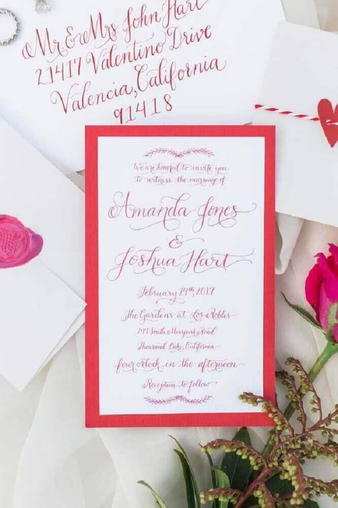 cores para convite de casamento simples e moderno