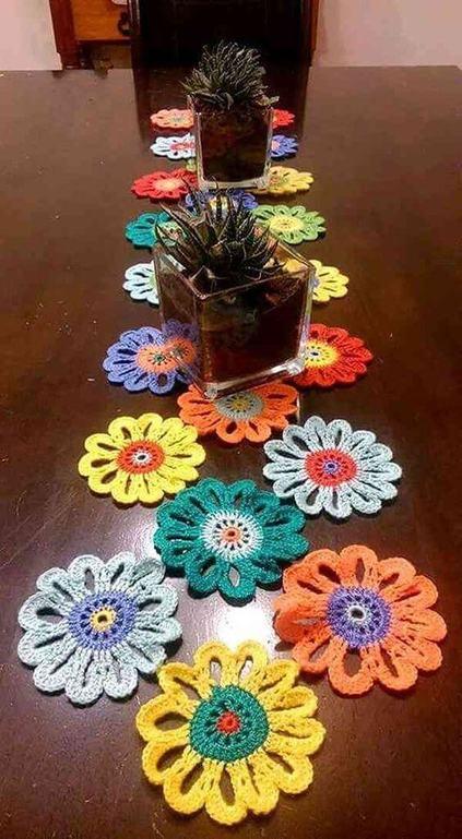 crochê - caminho de mesa de crochê