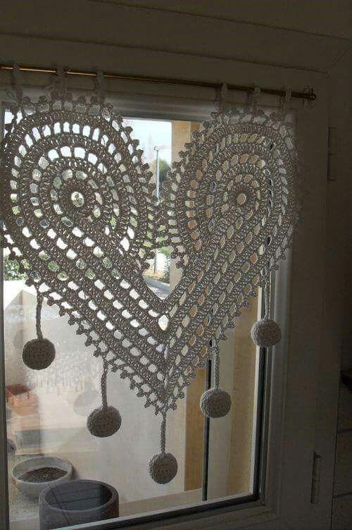 crochê - cortina decorativa de crochê