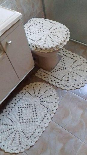 crochê - jogo de banheiro de crochê