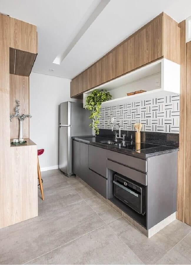 decoração com nicho para cozinha pequena planejada Foto Archtrends