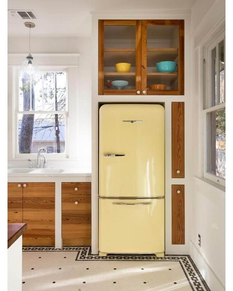 decoração cozinha retrô planejada