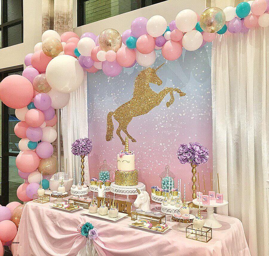 decoração festa de 15 anos com tema unicórnio