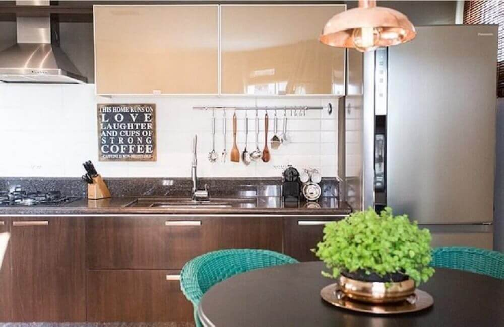 decoração para cozinha com quadros retrô
