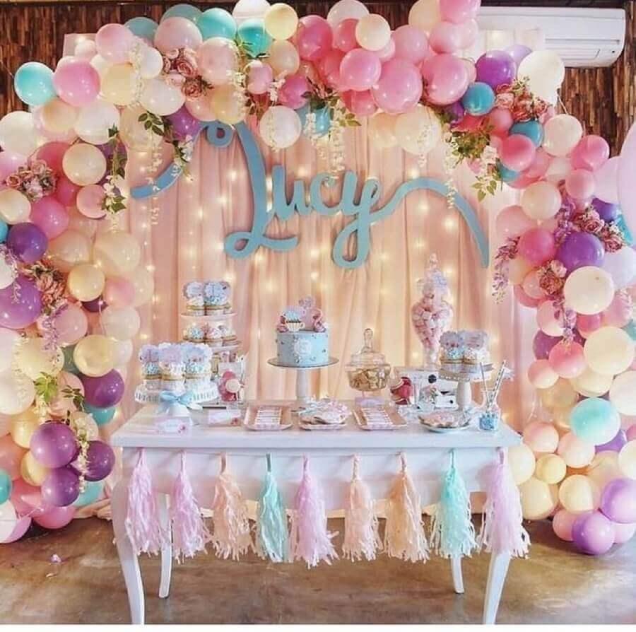 decoração para festa de 15 anos simples