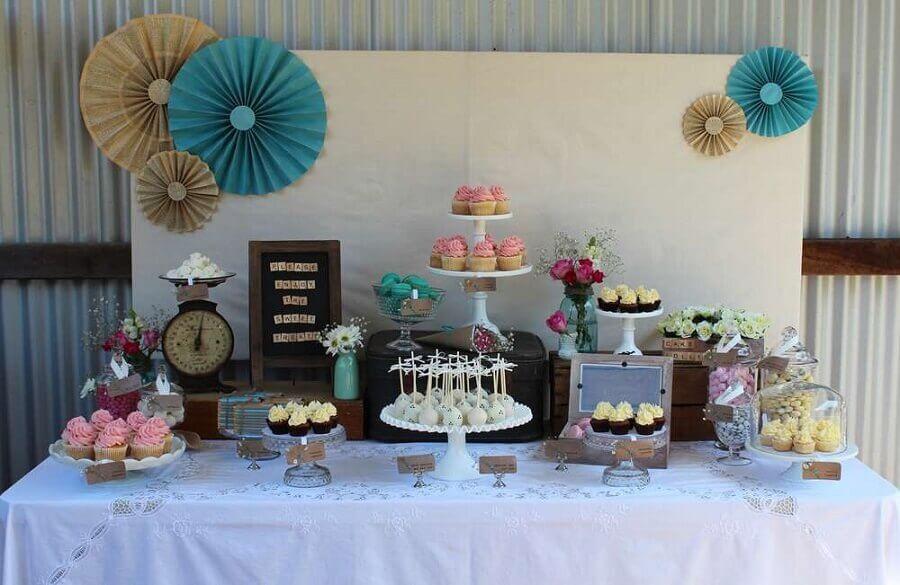 decoração rústica para festa de 15 anos simples