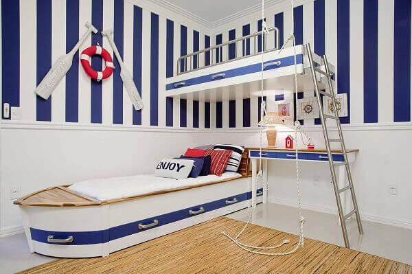 Decoração quarto de menino estilo marinheiro