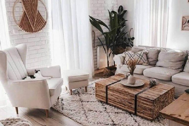 estilo hygge para decoração de sala de estar em cores neutras  Foto Interior Design Explained
