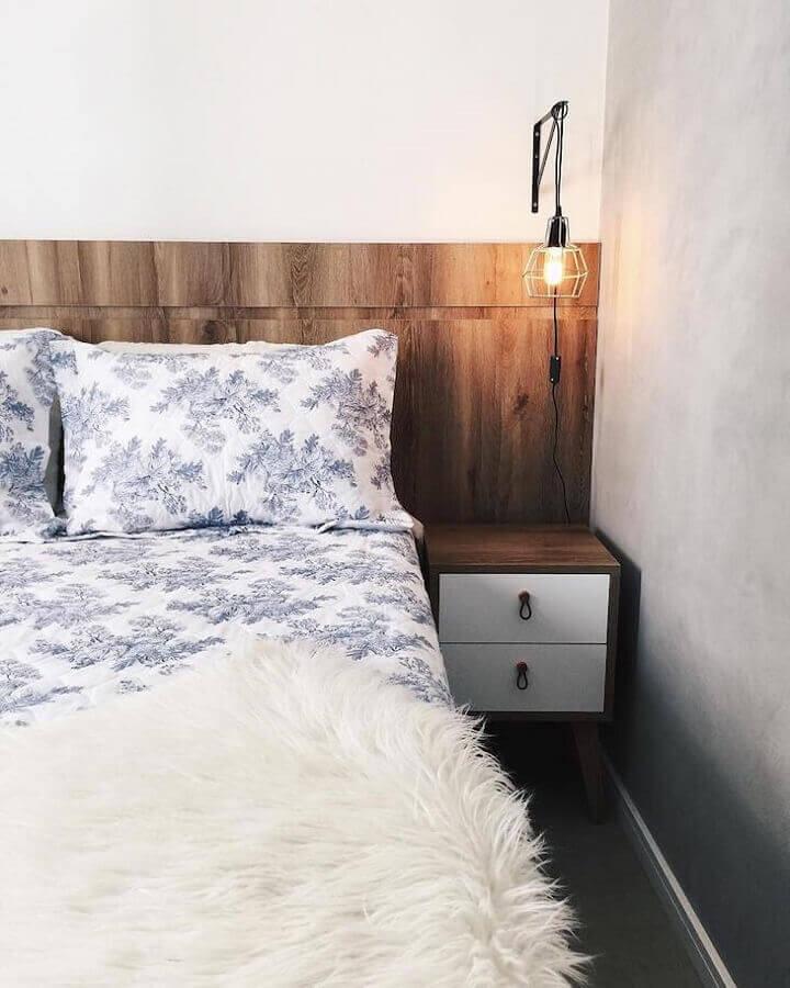 hygge decor para quarto com estilo simples Foto Apartamento84