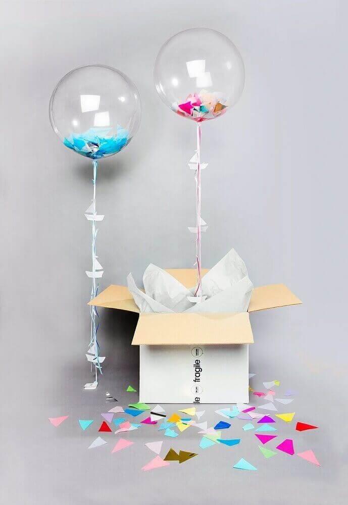 ideia de balão para festa na caixa - Foto bonbon balloons