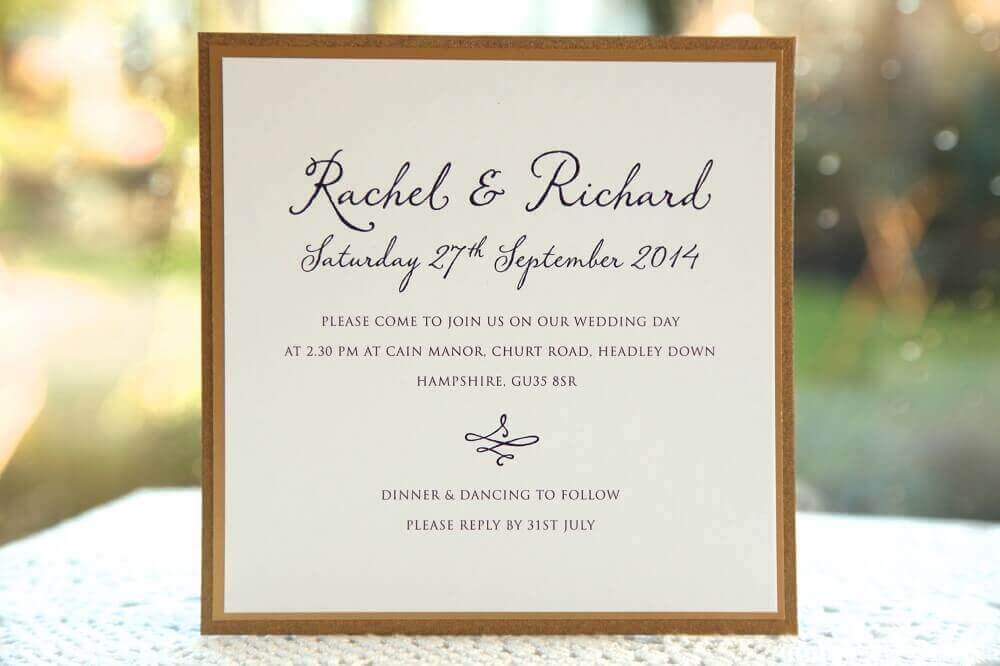 ideia para convite de casamento simples e barato