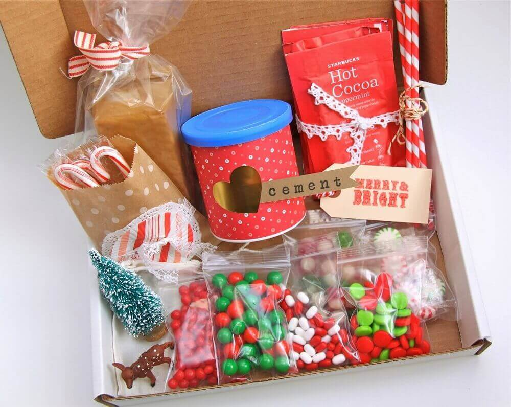 ideia para festa na caixa de natal -Foto smashed peas and carrots