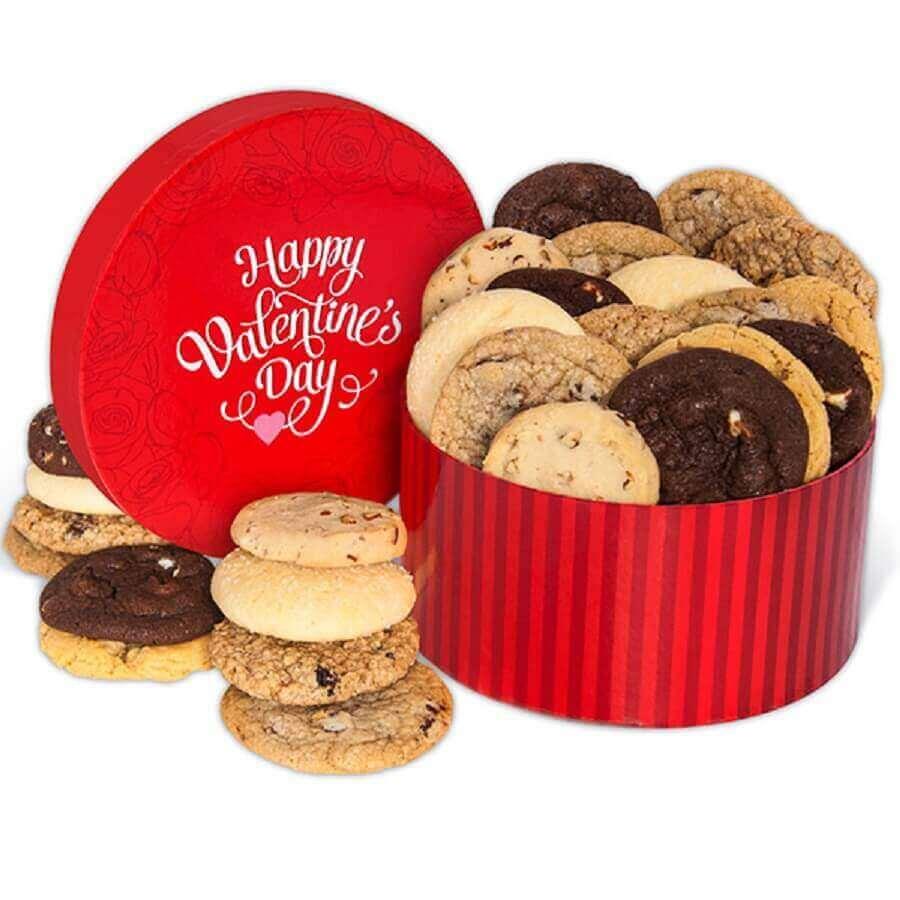 lata de cookies como festa na caixa para namorado - Foto gourmet gift baskets