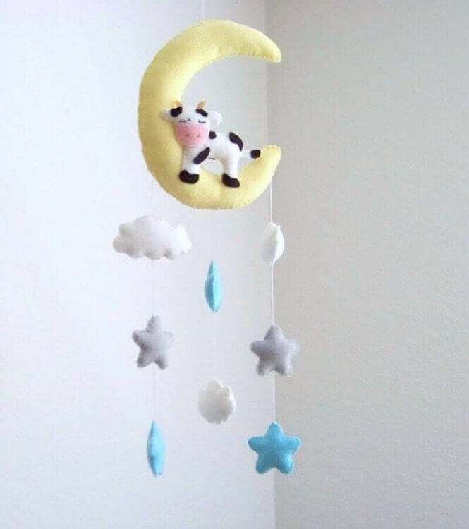 móbile para artesanato em feltro para bebê