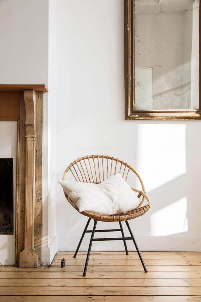 móveis de vime para decoração minimalista Foto Daniella Witte