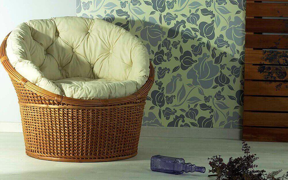 móveis de vimes - poltrona redonda grande de vime Foto Idea Store