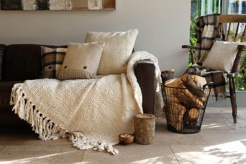mantas e almofadas para decoração hygge Foto Good Stuff