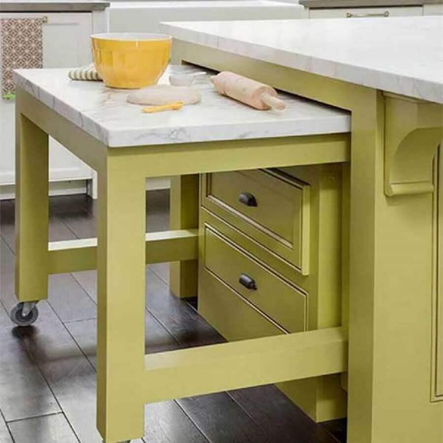 mesa planejada para cozinha