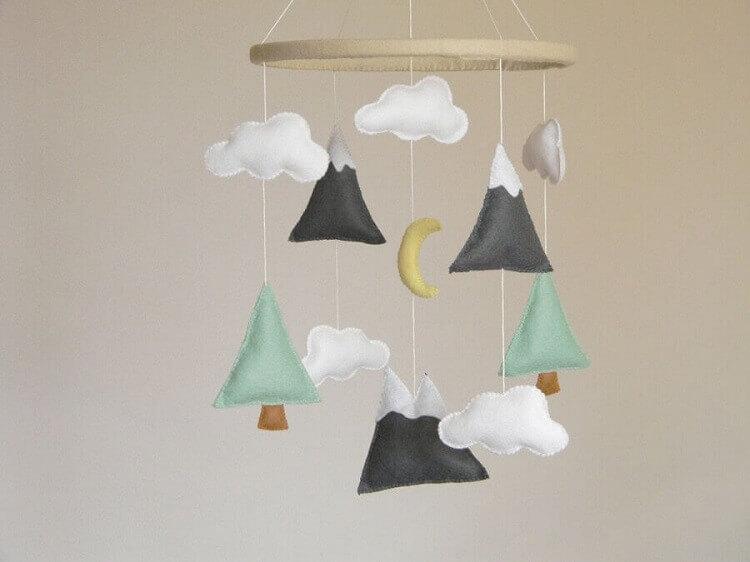 modelo de artesanato com feltro para bebê
