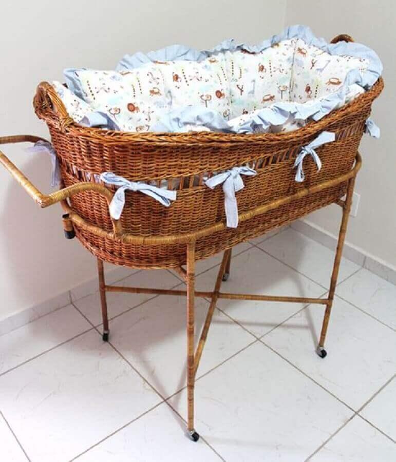 modelo de berço de vime para quarto de bebê Foto Pinterest
