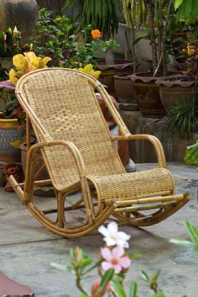 modelo de cadeira de balanço de vime Foto Pinterest