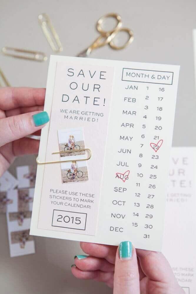 modelo divertido de convite de casamento simples e moderno