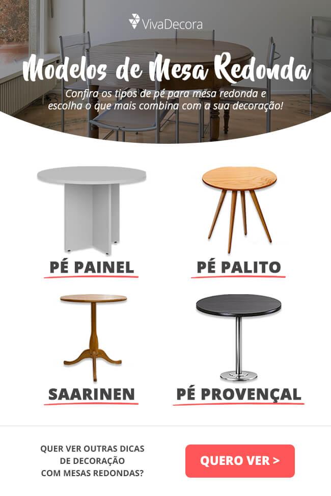 Infográfico - Modelos de mesa redonda