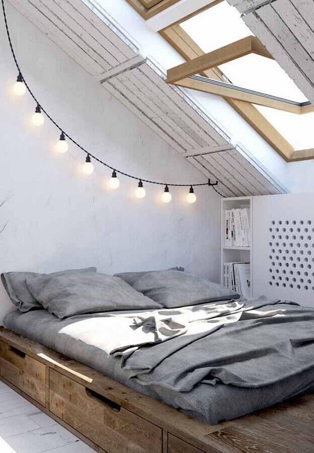quarto simples com decoração hygge Foto Pinterest