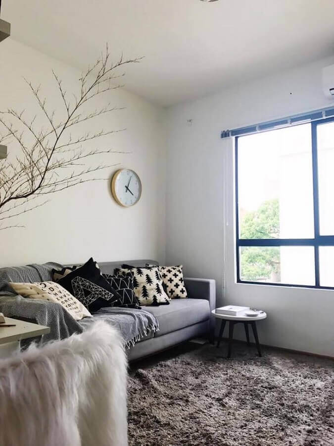 sala simples com hygge decor Foto Jeferson Araújo