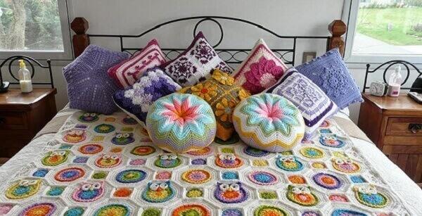 Artesanatos em geral colchas de crochê