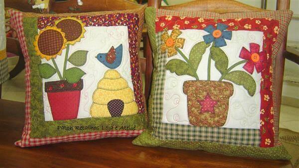 Artesanatos em geral almofadas com tecidos decoradas