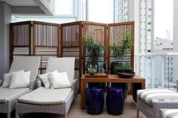 Biombo em varanda