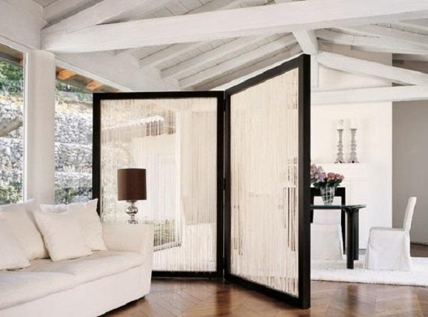 Biombo para sala grande e luxuosa