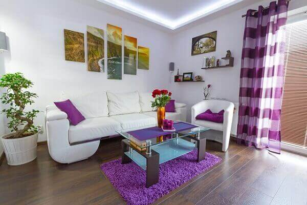 Como decorar uma sala com ambiente branco