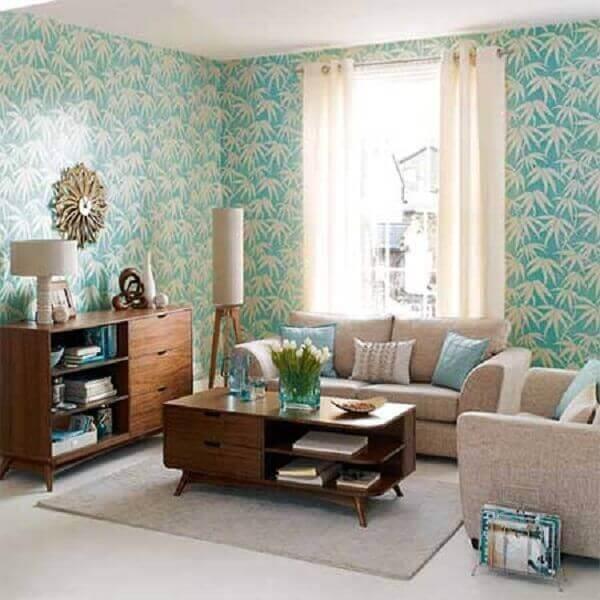 Como decorar uma sala com papel de parede