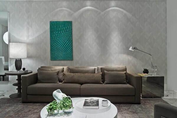 Como decorar uma sala com quadro verde