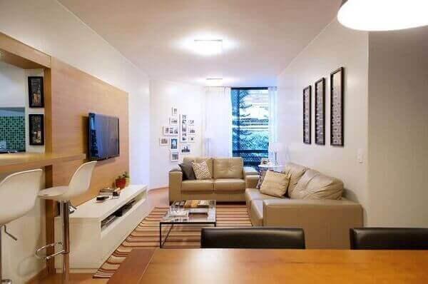 Como decorar uma sala de apartamento simples