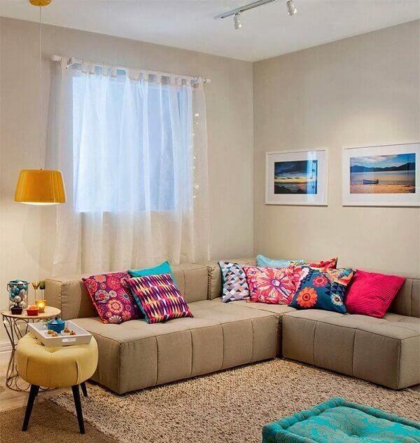 Como decorar uma sala na cor neutra