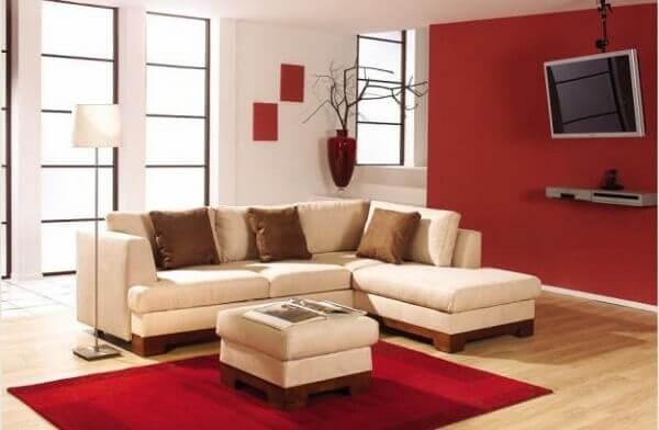 Como decorar uma sala pequena com pintura na parede