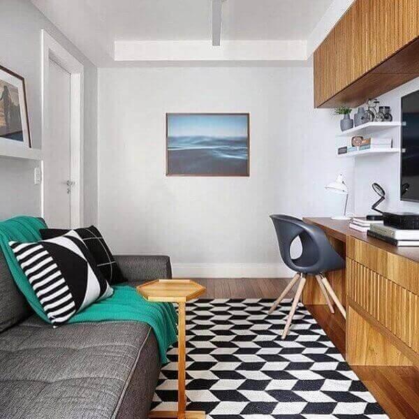 Como decorar uma sala pequena e moderna