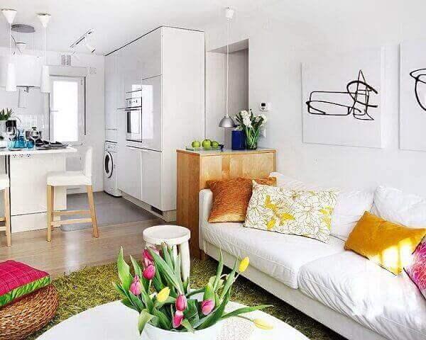 Como decorar uma sala pequena em ambiente integrado