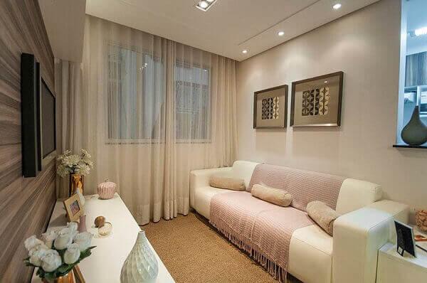 Como decorar uma sala simples de apartamento