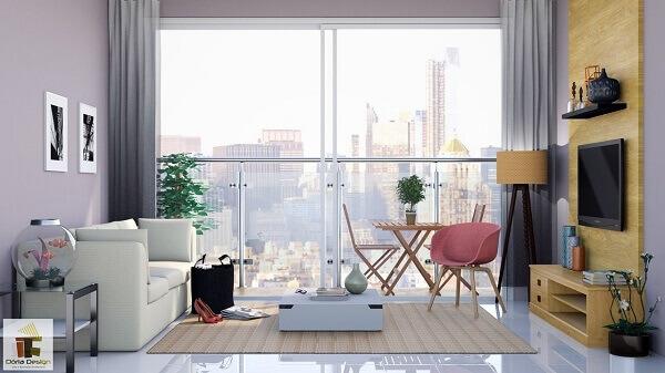 Como decorar uma sala simples e pequena em apartamento