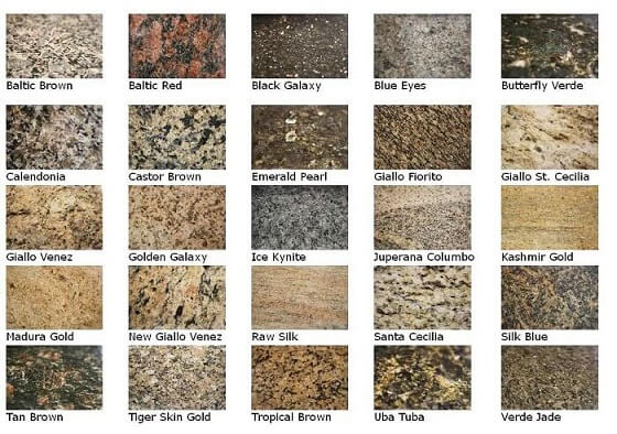 Cores de granito variadas Projeto de Construction Review Online