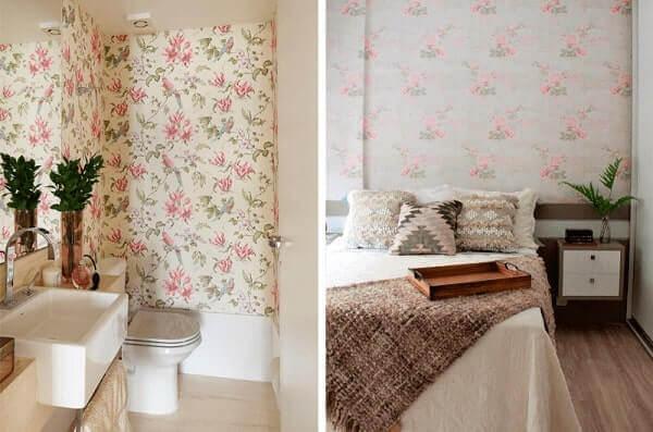 Decoração Floral papel de parede